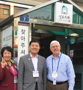 John Mucha with Korean Rotarians