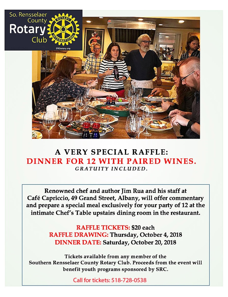 SRC Dinner Ad for Our Towne