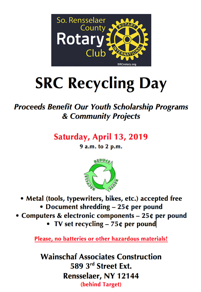 SRC April Recycling Event