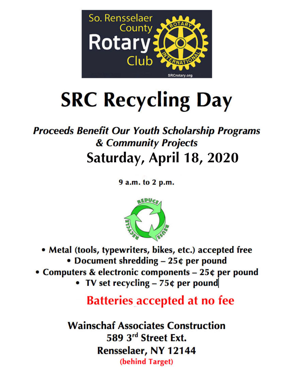 2020 Recycling Flyer