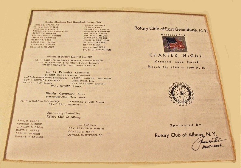 Charter Night Program 1960